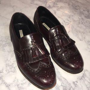 Men's Florsheim Wing Tip Solid Dress Shoe Sz 8.5